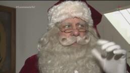 Santa Claus se prepara para Navidad