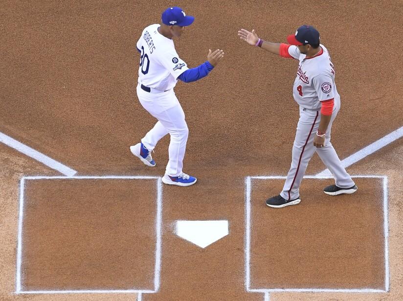 NLDS Nationals Dodgers Baseball