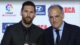"""""""No fue una guerra con Messi"""", dijo Javier Tebas"""