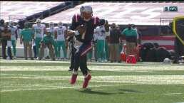 ¡Súper Cam! Newton consigue su primer TD con los Patriots