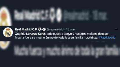 El madridismo reacciona y otorga sus condolencias a Lorenzo Sanz, quien falleció con 76 años a causa del coronavirus.