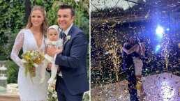 Adrián Uribe y Thuany Martins dan el 'sí, acepto' y Omar Chaparro les canta en su boda con todo y mariachi