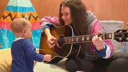'No habla pero ya canta': Joy Huerta y su hija cantan 'La De La Mala Suerte'