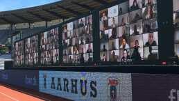 Dinamarca reanuda su liga con 10 mil aficionados virtuales