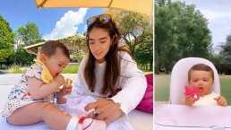 La bebita de Sharon Fonseca tiene postre favorito y así se lo saborea