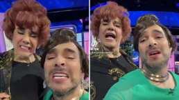 Omar Chaparro y Adrián Uribe hacen parodia de canción dolida, vestidos y maquillados como mujer