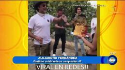 ¡Alejandro Fernández arma tremenda pachanga!