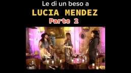 """""""¡Óyeme, qué te pasa!"""": Lucía Méndez reacciona con una cachetada al beso que le robó 'El Rey Grupero'"""