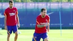 Messi entrena en día de descanso del Barcelona