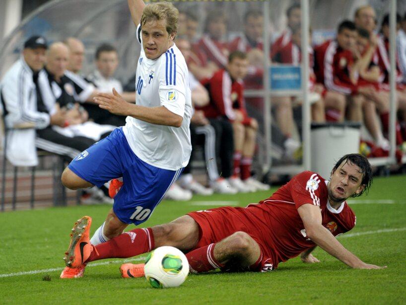 Finland Belarus Soccer WCup