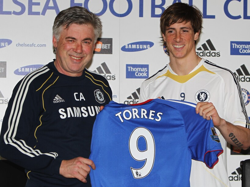 Chelsea Press Conference to announce new signing Fernando Torres