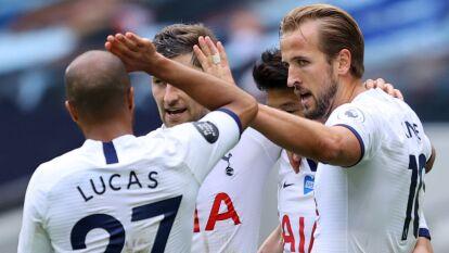 Tottenham da un paso importante hacia la Europa League |  En la última fecha de la Premier League, golearon 3-0 al Leicester City, quienes comprometieron la Champions.