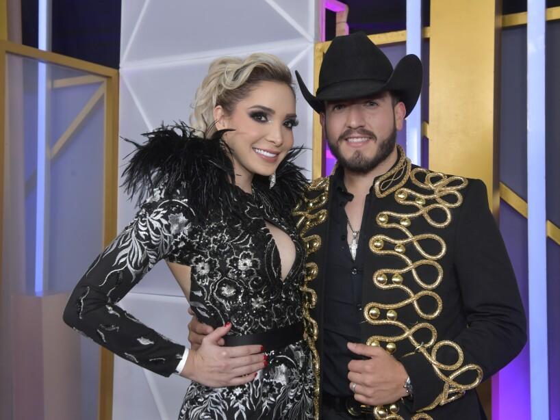 Pancho Uresti y Melissa Plancarte en la Alfombra Morada