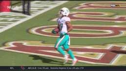 Myles Gaskin amplía la cuenta para Dolphins ante 49ers