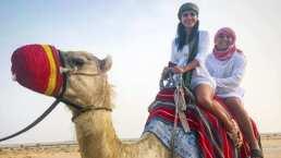 Así vivieron el último día de su luna de miel Edwin Luna y Kim Flores en Dubai