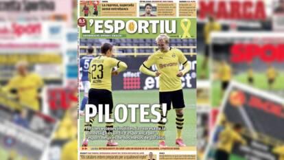 L'Esportiu de Catalunya resalta el triunfo del Borussia Dortmund con el título 'Pilotes'.