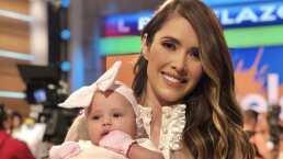 Marlene Favela muestra por primera vez a su hija Bella en televisión