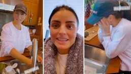 Alessandra Rosaldo descubre que Aislinn Derbez la invitó a su casa para que la ayude a lavar los trastes