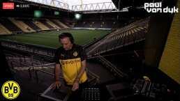 ¡Aplausos! Van Dyk tocó desde el estadio para la afición del Dortmund