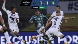 Pumas 1-1 León | La Fiera rescata el empate en una ida muy caliente