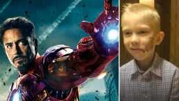 Video: Iron Man le tiene una sorpresa a Bridger Walker, y el pequeño no cabe de la emoción