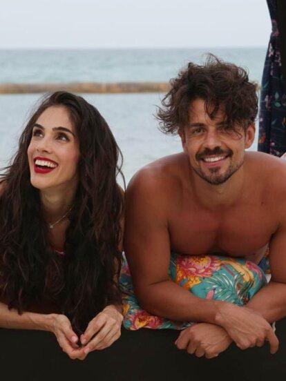"""Sandra Echeverría, Juan Martín Jáuregui y el equipo de producción de """"La Usurpadora"""" se trasladaron a Playa del Carmen para grabar escenas cruciales de la telenovela."""