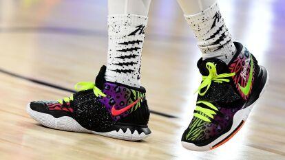 Tenis Nike usados por Quavo #91 del equipo Stephen A. del Juego de las Celebridades.