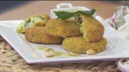 Comienza la semana del arroz con estas deliciosas tortitas con queso y espinaca