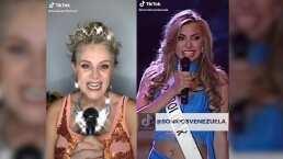'La gente está loca': Erika Buenfil revive con icónica parodia el discurso de una candidata a Miss Venezuela