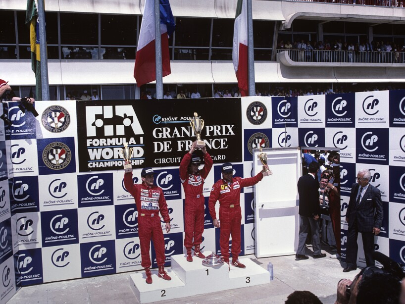 Senna & Others At Grand Prix Of France