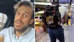Video: Oops, Lambda García mostró de más mientras caminaba en el aeropuerto