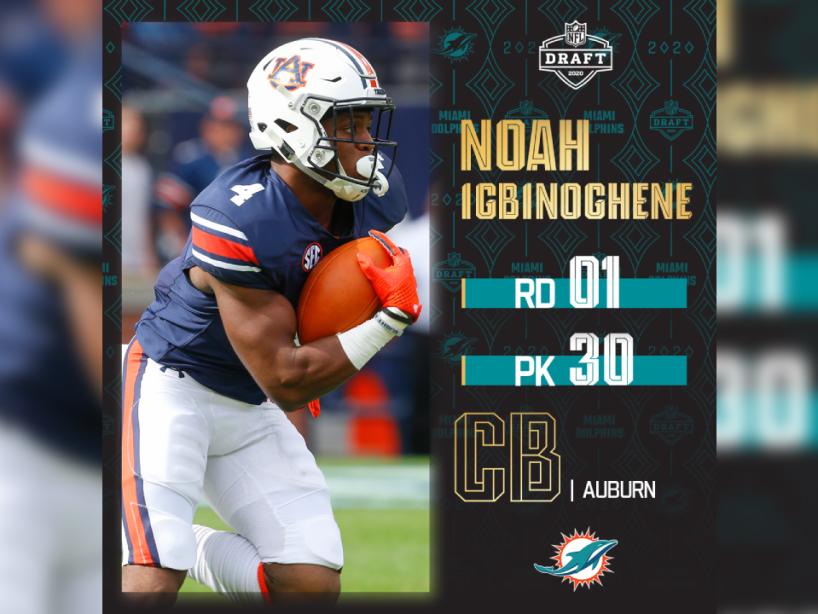 Noah Igbinoghene, NFL Draft, 1.png