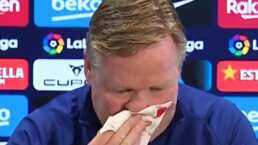 Koeman deja conferencia de prensa por sangrado en la nariz