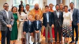Galilea Montijo acompañada de su esposo celebraron la primera comunión de su hijo Mateo