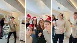Con un rompopito, Juanpa Zurita y la divertida manera de poner su árbol de Navidad con su familia