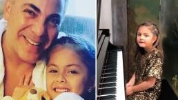 Rafaela, hija de Cristian Castro, le dedica su primera composición por su cumpleaños