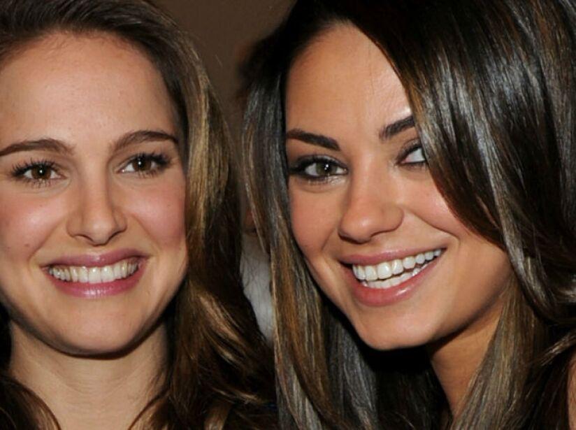 3. Natalie Portman y Mila Kunis: Dicen que se tomaron una botella de tequila para besarse en el Cisne Negro.