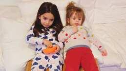 Aislinn Derbez exhibe tiernos juegos entre Aitana y Kailani: de cosquillas a brincos en la cama