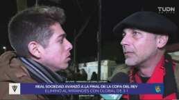 Seguidores de Mirandés, felices pese a la derrota ante Real Sociedad