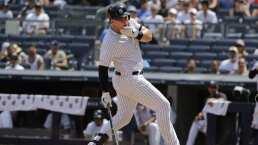 Luke Voit de los Yankees, recibe pelotazo en la cara