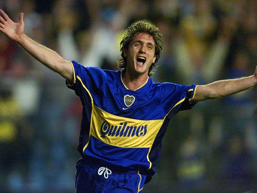 Guillermo Barros Schelloto of Boca Juniors of Arge