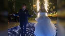Pareja de novios enamoran con el vals de su boda al ritmo de Britney Spears y Backstreet Boys