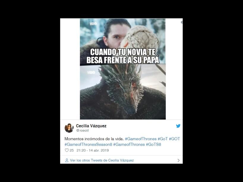 Game Of Thrones, temporada 8, estreno, final de la serie, memes