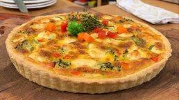 RECETA: Tarta de vegetales con queso
