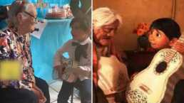 Este niño le llevó serenata a su bisabuela y le cantó 'Recuérdame', de 'Coco'