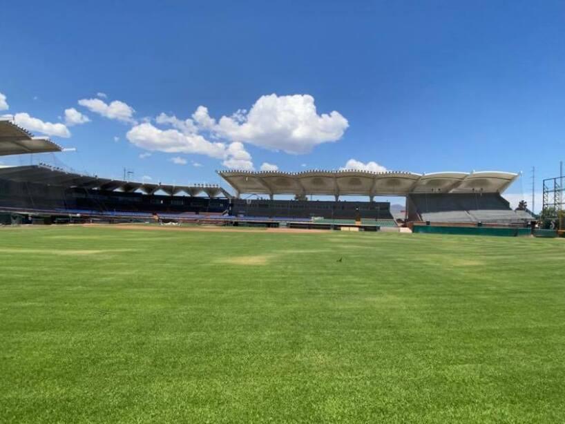 El pasto del Estadio Madero cada vez en mejor forma.jpg