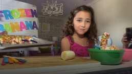 Jacky, hija de Jacqueline Bracamontes, se convierte en 'Chefcita' para enseñarte a hacer 'Frozen Banana Pops'