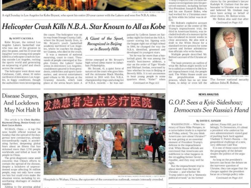Kobe Bryant, periódico, THE NEW YORK TIMES.jpg
