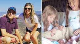 Hijas de 'El Burro' Van Rankin se emocionan al conocer a su hermanita, Carlota
