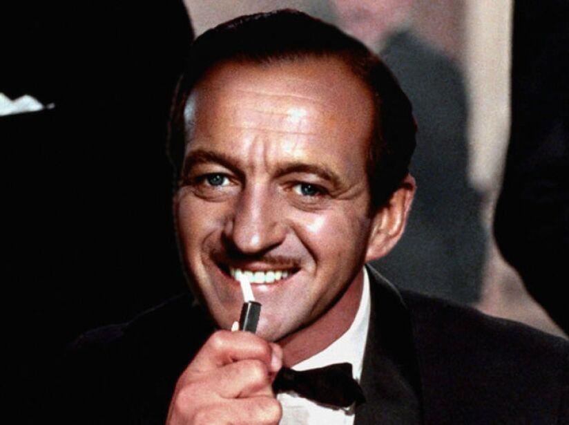 3. David Niven (1967): Se metió en la piel de James Bond, en Casino Royale (1967), una parodia del 007.